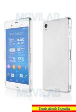 Funda carcasa gel / TPU Sony Xperia Z3 transparente diseño S-Line antihuellas