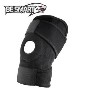 Adjustable Strap Elastic Knee Patella Sports Support Brace Black Neoprene