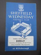 Sheffield Wednesday V Burnley 1968/9