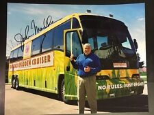 John Madden & His Bus Coach/Annoucer/HOFer   8x10 with COA