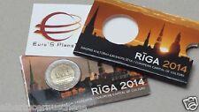 coin card 2 euro 2014 LETTONIA RIGA Lettonie Lettland Latvia Латвия culture