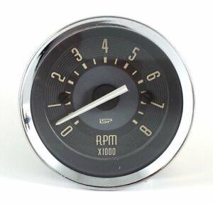 "VW BUG BUS GHIA ISP 2-1/16"" MINI 8,000 RPM TACHOMETER DASH GAUGE BEIGE FACE"