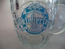 2 Oktoberfest Glass Beer Mug/Steins San Diego Hamiltons Small Bar Monkey Paw