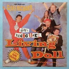 "CLIFF RICHARD & THE YOUNG ONES ~ LIVING DOLL ~ 1986 UK 2-TRACK 12"" SINGLE + P/S"