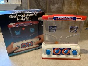Vintage 1977 Tomy Water Game Wonderful Waterful Basketball Toy 2 Player With Box