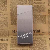 Silver Women Slim Aluminum Cigarette Case Metal Holder Box for 100's King Deco G