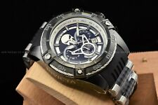Invicta Mens 52mm Limited Edition Marvel Punisher Chrono Black Silver Watch