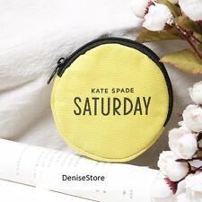 NEW KATE SPADE Saturday Cute Round Yellow Zipper Small Coins Bag Purse