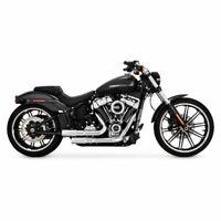 Vance & Hines Chrome Mini Grenades Exhaust Pipes Harley 2018+ Softail FXBR FLFB