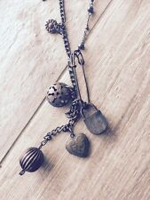 Free People Long Charm Necklace Nwot