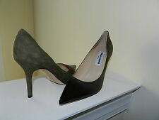 Jimmy Choo Green Agnes Suede Patent Leather Degrade Pumps 36 US 6  $695