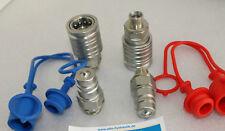 2 x Hydraulik Kupplung 12-L Stecker Muffe 12L Schutz rot blau BG3 SVK Satz Gr. 3