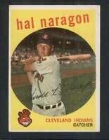 1959 Topps #376 Hal Naragon EX/EX+ Indians 72256