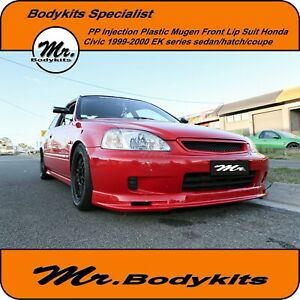 PP Plastic Mugen Front Lip Suit Honda Civic EK Series 99-00 Coupe/Hatch/4 Door