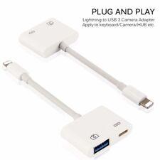 iOS 11 OTG Lightning USB 3.0 Camera Adapter  Connect iPhone to Digital Camera