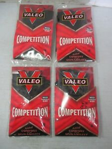 4 Pairs of VALEO Competition Weight Lifting Gloves GLLS Black Small IHX001