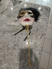 Unique creations wall masks With hand wand hand crafted Mardi gras masquerade