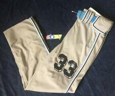 BOOMBAH Sz 31×28 Men Baseball Softball Pants Gray & Powder Blue Sport Belt EUC