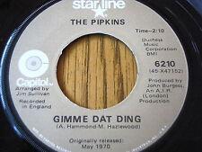 "THE PIPKINS - GIMME DAT DING / HOTLEGS - NEANDERTHAL MAN   7"" VINYL"