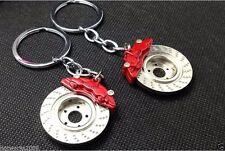 1pc,Red Metal Car Keychain Key Ring   Disc Brake Key chain