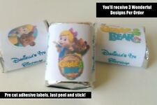 30 GOLDIE AND BEAR BIRTHDAY PARTY FAVORS HERSHEY NUGGET LABELS BOY GIRL PARTY