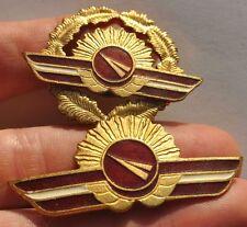1990s Latvia Latvian Airlines Aviation PILOT WINGS Hat Badge Insignia