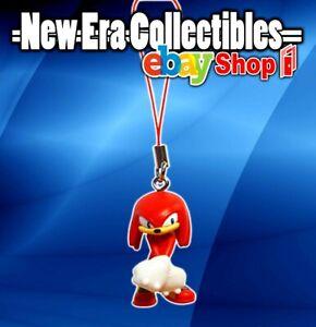 "Sega Sonic The Hedgehog Dangler Knuckles 2"" Inch Figurine with Phone Strap Tomy"