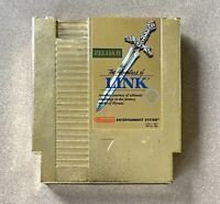 Nintendo NES Zelda II - The Adventure Of Link NTSC Game Cartridge. Exc Cond.