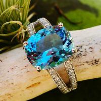 Aquamarin Brillant Ring 4.7 0.32 ct 750er Gold SANTA MARIA(afr.) SW 5.855.-Euro
