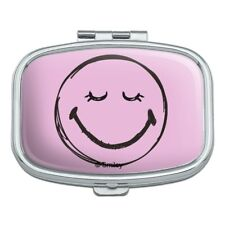 Smiley Smile Happy Sleepy Thoughtful Face Rectangle Pill Case Trinket Gift Box