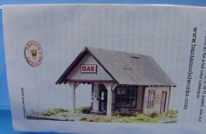 TG- HO/HOn3 BANTA MODELWORKS 2109 1930'S GAS STATION CRAFTSMAN LASER KIT