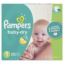 Diapers Newborn/Size 1 (8-14 lb), 252 Count - Pampers Baby Dry Disposable