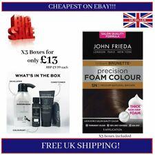 🔥 X3 JOHN FRIEDA Precision Foam Hair Dye Colour 5N Medium Natural Brown 🔥