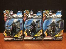 "Marvel Universe 3.75"" Movie Series Assault Squad Nick Fury Lot Of 3 Dela1868"