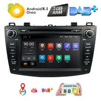 "8"" Android 8.1 Car Stereo DVD GPS WiFi DAB Bluetooth Radio For Mazda 3 2010-2013"