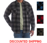Wrangler  Long Sleeve Plaid Wicking Fleece Shirt Men's Size S-3XL