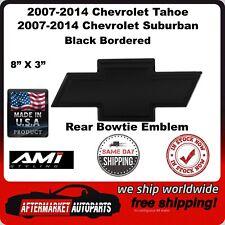 07-14 Tahoe & Suburban Black Powder Coat Bordered Bowtie Rear Emblem AMI 96098K
