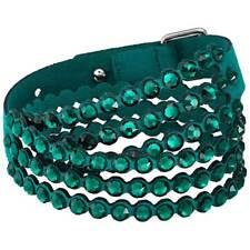 Potencia De Pulsera De Mujer Swarovski Cristales De Tela Verde Doble-Wrap 5511700