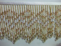 "LONG BEADED FRINGE TRIM 5 TO 5.5 "" color number # 17"