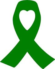 Green Macmillan Cancer Support Heart Ribbon Sticker 30% Donated to Charity