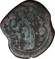 Manuel I , Comnenus  1143AD Rare Ancient Byzantine Authentic Coin Cross  i33193