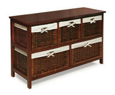 Badger Basket Five Basket Storage Unit with Wicker Baskets in Cherry 09061  New