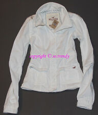 NWT HOLLISTER by Abercrombie Womens Vintage Twill Field Jacket White M $98
