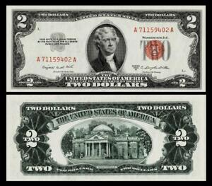 1953-B $2 RED SEAL UNITED STATES NOTE ~~BRIGHT & CRISP ~GEM UNCIRCULATED