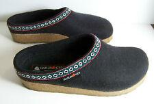 Haflinger Classic Girzzly Black Wool Clogs size EU 40 US 9 womens