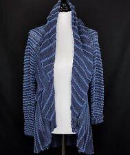 Ralph Lauren Blue Womens Cotten Chunky Knit Duster Small