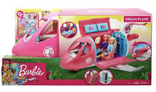 Dream Barbie Plane Playset Accessories 15 New Girls Play Pink Airplane Toy Set