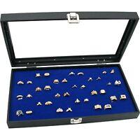 Jewelry Box Display Case 72 Royal Blue Ring Insert