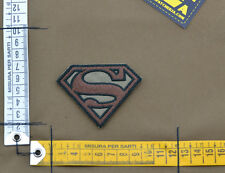 """Ricamata / Embroidered Patch """"Superman"""" Coyote Tan with VELCRO® brand hook"""