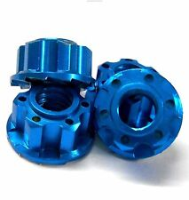 YA-0448LB 1/10 M4 4mm Alloy Aluminium Wheel Flange Knurled Lock Nut x 4 RC Blue